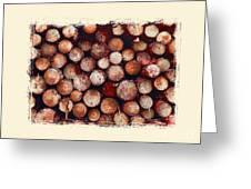 The Log Pile Greeting Card