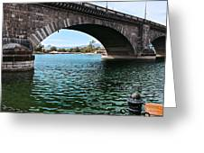 The London Bridge Is In Arizona Greeting Card