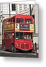 Vintage London Bus Greeting Card