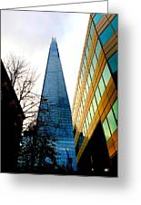The London Shard In Blue No2 Greeting Card