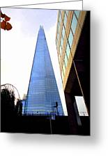 The London Shard In Blue No4 Greeting Card