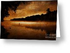 The Lonely Fisherman Greeting Card