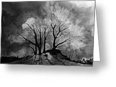 The Lonely Grave Greeting Card