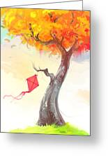 The Lonely Kite Greeting Card