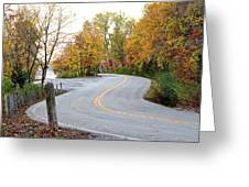 The Long And Winding Road Greeting Card