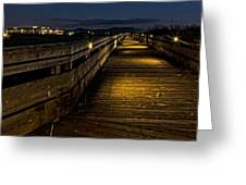 The Long Boardwalk Greeting Card