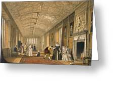 The Long Gallery At Lanhydrock Greeting Card