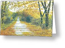 The Long Road Home - Oil Greeting Card