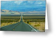 The Long Road Through Death Valley Greeting Card
