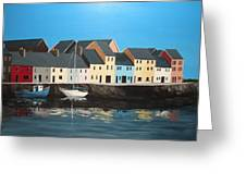The Long Walk Galway Greeting Card