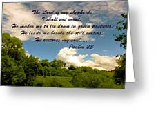 The Lord Is My Shepard Greeting Card