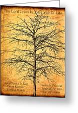 The Lord Jesus Is The Tree Of Life Greeting Card