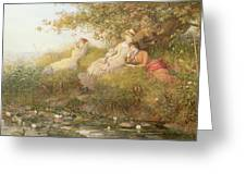 The Lotus Eaters, 1893 Greeting Card