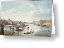 The Louvre, From Views On The Seine Greeting Card
