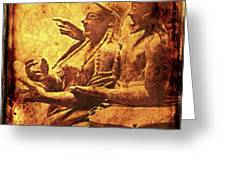 The Loving Etruscan Couple Vanished Civilisations Greeting Card