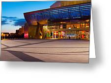 The Lowry Complex At Dusk, Salford Greeting Card