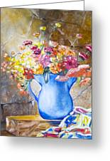 The Blue Vase  Greeting Card