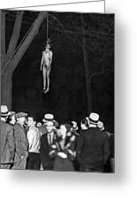 The Lynching Of A Murderer Greeting Card
