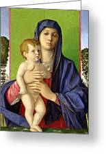 The Madonna Of The Trees Greeting Card by Giovanni Bellini