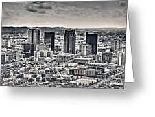 The Magic City Bw Greeting Card
