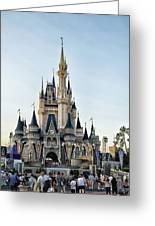 The Magic Kingdom Castle On A Beautiful Summer Day Greeting Card