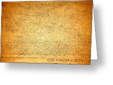 The Magna Carta 1215 Greeting Card