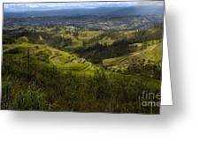 The Magnificent View From Cojitambo Greeting Card