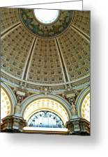The Main Reading Room Library Of Congress Greeting Card