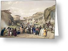 The Main Street In The Bazaar Greeting Card