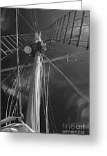 The Mainmast Of The Amazing Grace In Infrared Greeting Card