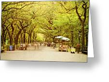 The Mall In Central Park New York City Fall Foliage Greeting Card