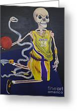 The Mamba Strikes Greeting Card