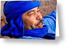 The Man In Blue Greeting Card