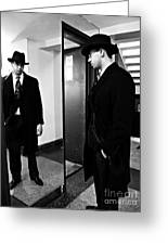 The Man In The Mirror 2 Greeting Card by Sarah Loft