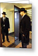 The Man In The Mirror Greeting Card by Sarah Loft