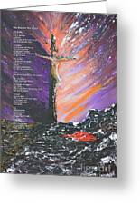 The Man On The Cross With Poem Greeting Card