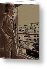 The Man Who Loved Paris Greeting Card