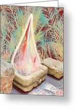 The Manger Is Empty But The Light Still Shines Greeting Card