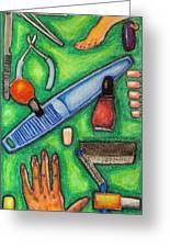 The Manicurist Greeting Card