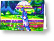 The Mann That Brings Rain Greeting Card