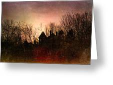 The Mansion Is Warm At The Top Of The Hill Greeting Card by Bob Orsillo