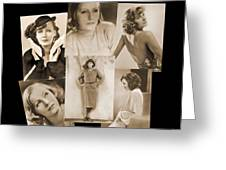 The Many Faces Of Greta Garbo Greeting Card