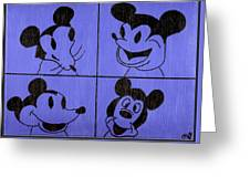 The Many Faces Of Mickey Greeting Card