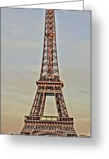 The Many Faces Of The Eiffel Tower In Paris France Greeting Card