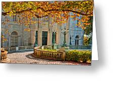 The Marble House In Autumn Greeting Card
