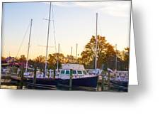 The Marina At St Michael's Maryland Greeting Card by Bill Cannon