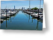 The Marina At The Golden Nugget Greeting Card by Tom Gari Gallery-Three-Photography