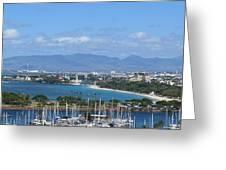 The Marina At Waikiki Greeting Card