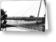 The Marine Road Bridge Southport 2 Greeting Card