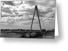 The Marine Road Bridge Southport Greeting Card